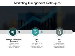 Marketing Management Techniques Ppt Slides Background Cpb