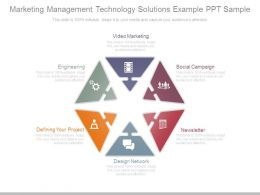 Marketing Management Technology Solutions Example Ppt Sample