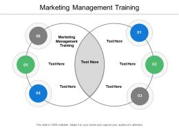 Marketing Management Training Ppt Powerpoint Presentation Ideas Slides Cpb