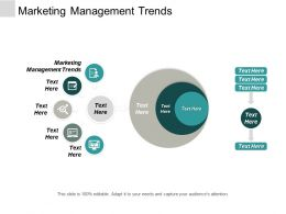 Marketing Management Trends Ppt Powerpoint Presentation Professional Gallery Cpb