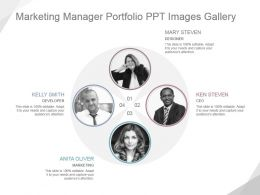 Marketing Manager Portfolio Ppt Images Gallery