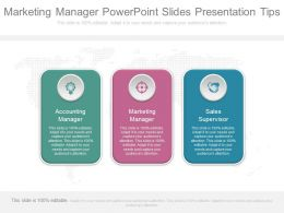 Marketing Manager Powerpoint Slides Presentation Tips