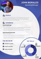 Marketing Manager Resume Template Creative With Work Experience