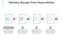 Marketing Manager Roles Responsibilities Ppt Powerpoint Presentation Outline Cpb
