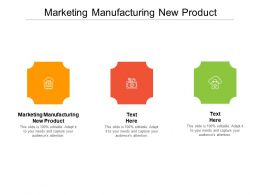 Marketing Manufacturing New Product Ppt Powerpoint Presentation Graphics Cpb