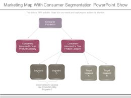 Marketing Map With Consumer Segmentation Powerpoint Show