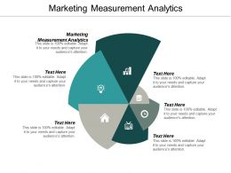 Marketing Measurement Analytics Ppt Powerpoint Presentation Ideas Graphics Pictures Cpb