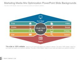 Marketing Media Mix Optimization Powerpoint Slide Backgrounds