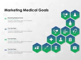 Marketing Medical Goals Ppt Powerpoint Presentation Pictures Samples
