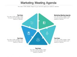 Marketing Meeting Agenda Ppt Powerpoint Presentation Infographic Cpb