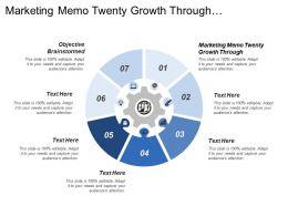 Marketing Memo Twenty Growth Through Objective Brainstormed Increase Profit Sales