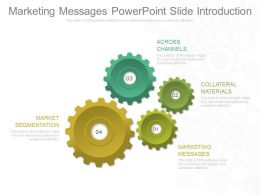 Marketing Messages Powerpoint Slide Introduction