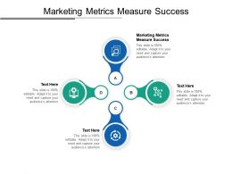 Marketing Metrics Measure Success Ppt Powerpoint Presentation Styles Brochure Cpb