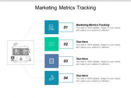 Marketing Metrics Tracking Ppt Powerpoint Presentation Model Tips Cpb