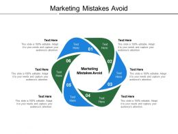 Marketing Mistakes Avoid Ppt Powerpoint Presentation Infographics Icons Cpb