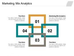 Marketing Mix Analytics Ppt Powerpoint Presentation Layouts Visual Aids Cpb