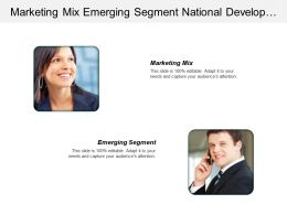 Marketing Mix Emerging Segment National Development Planning Body