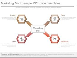 Marketing Mix Example Ppt Slide Templates