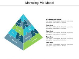 Marketing Mix Model Ppt Powerpoint Presentation Pictures Display Cpb