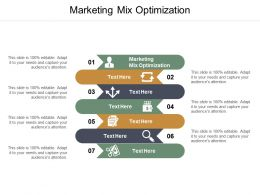 Marketing Mix Optimization Ppt Powerpoint Presentation Model Example File Cpb
