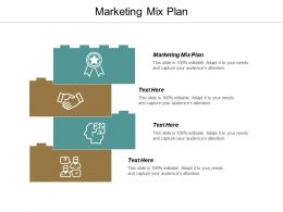 Marketing Mix Plan Ppt Powerpoint Presentation Gallery Icon Cpb
