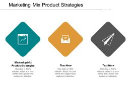 Marketing Mix Product Strategies Ppt Powerpoint Presentation Gallery Ideas Cpb