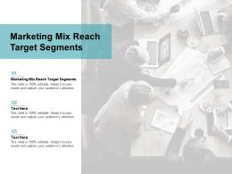 Marketing Mix Reach Target Segments Ppt Powerpoint Presentation Inspiration Slide Portrait Cpb