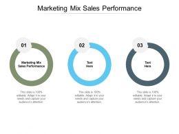 Marketing Mix Sales Performance Ppt Powerpoint Presentation Ideas Elements Cpb