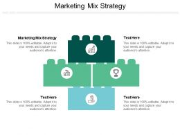 Marketing Mix Strategy Ppt Powerpoint Presentation Icon Guide Cpb