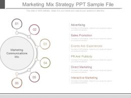 Marketing Mix Strategy Ppt Sample File