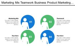 Marketing Mix Teamwork Business Product Marketing Leadership Skills