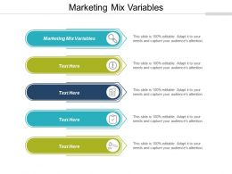Marketing Mix Variables Ppt Powerpoint Presentation Outline Graphics Cpb