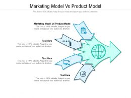 Marketing Model Vs Product Model Ppt Powerpoint Presentation File Professional Cpb