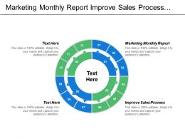 Marketing Monthly Report Improve Sales Process E Marketing Sales Opportunity