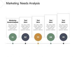 Marketing Needs Analysis Ppt Powerpoint Presentation Portfolio Styles Cpb