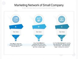Marketing Network Of Small Company