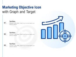 Marketing Objective Icon With Graph And Target