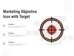 Marketing Objective Icon With Target