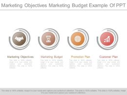 Marketing Objectives Marketing Budget Example Of Ppt