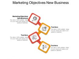 Marketing Objectives New Business Ppt Powerpoint Presentation Model Graphics Template Cpb