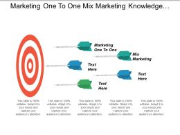 Marketing One To One Mix Marketing Knowledge Management Cpb