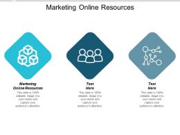 Marketing Online Resources Ppt Powerpoint Presentation Model Deck Cpb