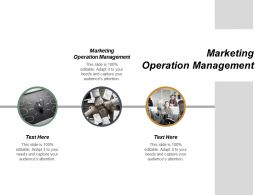 Marketing Operation Management Ppt Powerpoint Presentation File Good Cpb