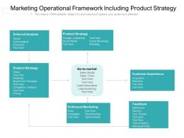Marketing Operational Framework Including Product Strategy