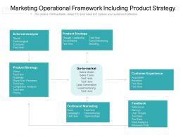 Marketing Operational Framework Including Product Strategy