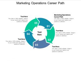 Marketing Operations Career Path Ppt Powerpoint Presentation Show Graphic Images Cpb