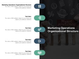 Marketing Operations Organizational Structure Ppt Powerpoint Presentation Visual Aids Icon Cpb