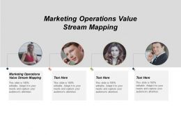 Marketing Operations Value Stream Mapping Ppt Powerpoint Presentation Model Images Cpb
