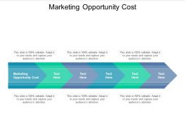 Marketing Opportunity Cost Ppt Powerpoint Presentation Icon Topics Cpb