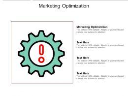 Marketing Optimization Ppt Powerpoint Presentation Microsoft Cpb